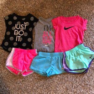Toddler girl 2T NIKE Shorts/shirts